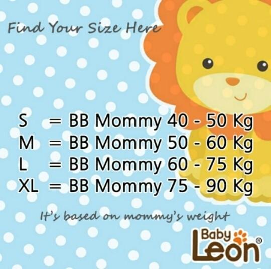 PREMIUM GEOS Gendongan Kaos Baby Leon Ukuran L STRIP BESAR GRAY
