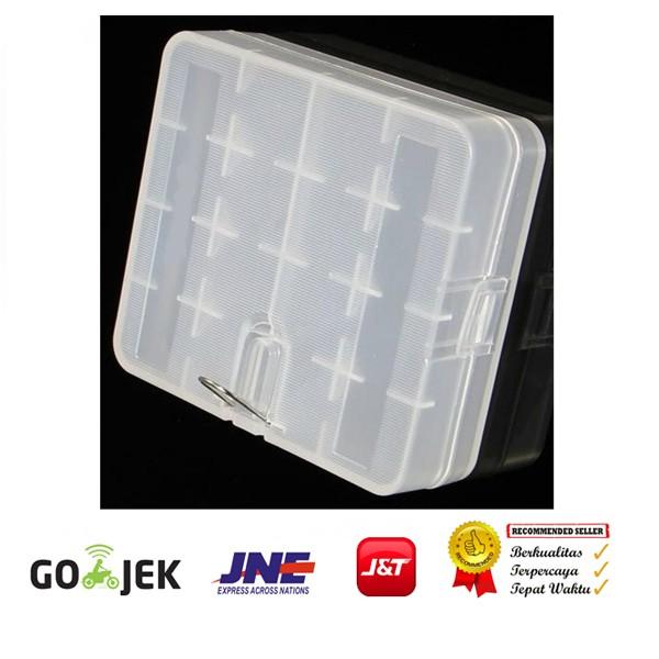 Foto Produk Battery - Baterai Case 18650 4 Slot - Transparant dari Rajawalidigital