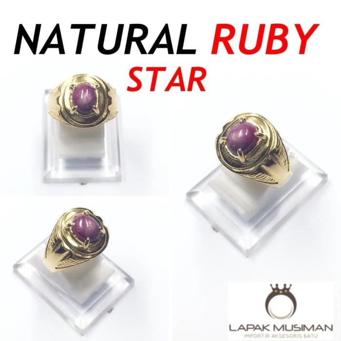 harga Cincin natural ruby star - super klep - garansi natural Tokopedia.com