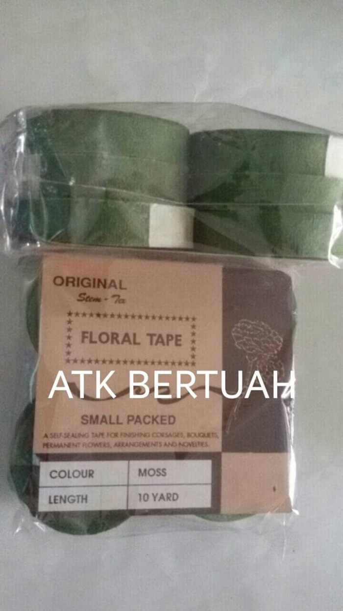 Jual FLORAL TAPE SELOTIP PITA KERTAS BATANG BUNGA DAUN HIJAU Jakarta Utara ATK BERTUAH