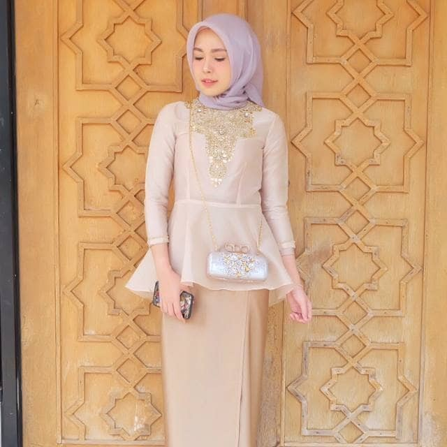 Fashion Wanita Baju Atasan Top Blouse Pesta Organza Nesya Peplum