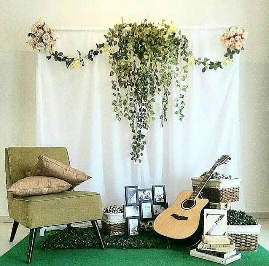Jual Backdrop Dekorasi Lamaran Engagement Photobooth Wedding