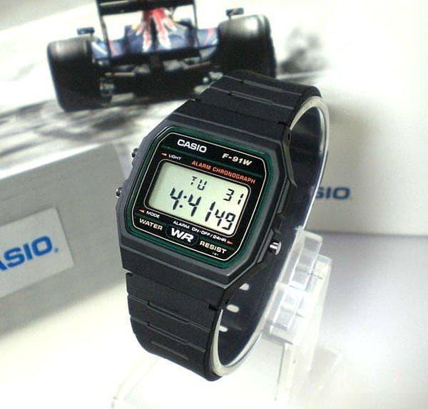 Jam tangan digital classic casio original f-91w-3 bergaransi resmi .