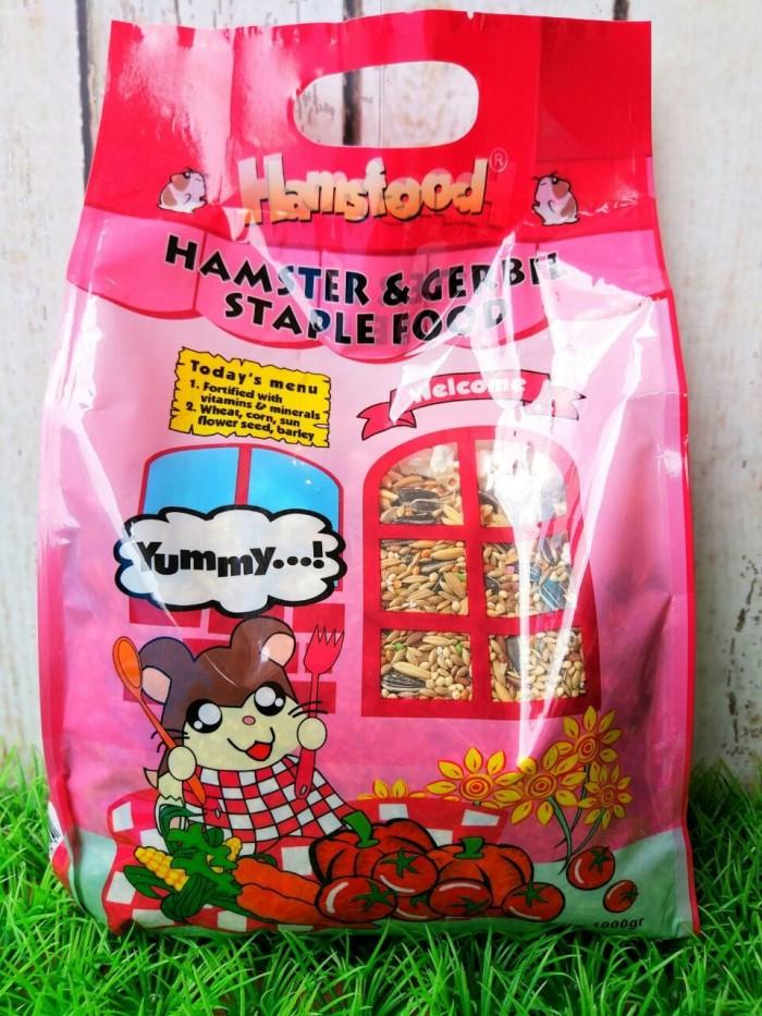 Hamsfood Hamster & Gerbil Stapple - 1 kg - Makanan Hamster