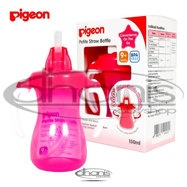 harga Botol minum bayi pigeon petite straw bottle  pink Tokopedia.com