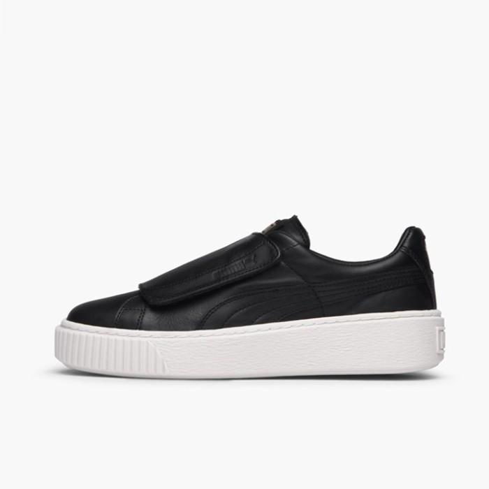 Jual Sepatu Casual Wanita PUMA Basket Platform Strap Black Original ... 9ab0835bf