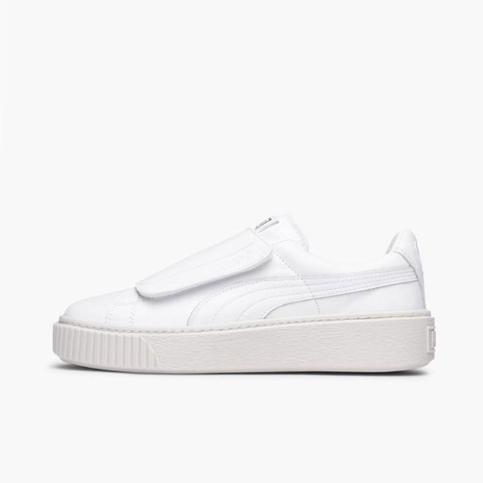 Jual Sepatu Casual Wanita PUMA Basket Platform Strap White Original ... 30bde3539