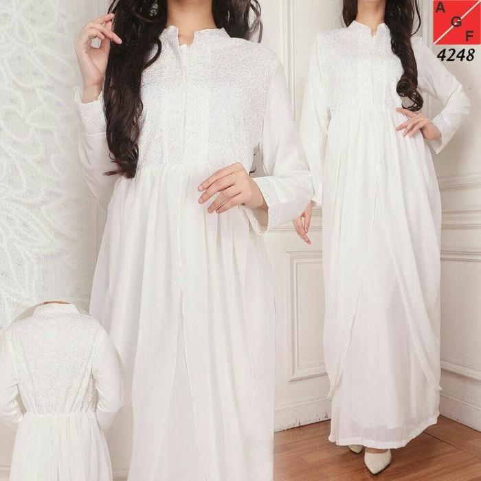 harga Baju gamis putih / busana muslim / baju muslim #4248 std Tokopedia.com