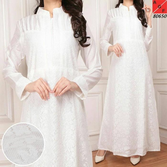 harga Baju Gamis Putih / Busana Muslim / Baju Muslim #80650 Std Tokopedia.com