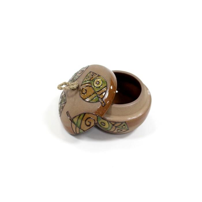 Jual Tempat Perhiasan Warna Coklat Motif Daun Kuping Gajah Harga Promo Terbaru