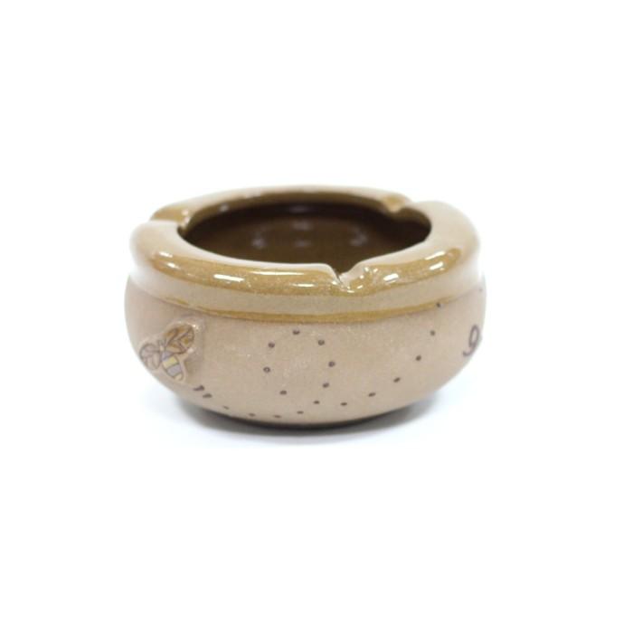 Jual Asbak Keramik Warna Cokelat Motmotif Bunga Harga Promo Terbaru