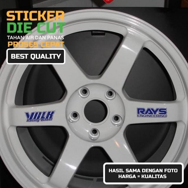 Sticker mobil volk racing rays te37 wheel spoke decal x 8 pcs ...