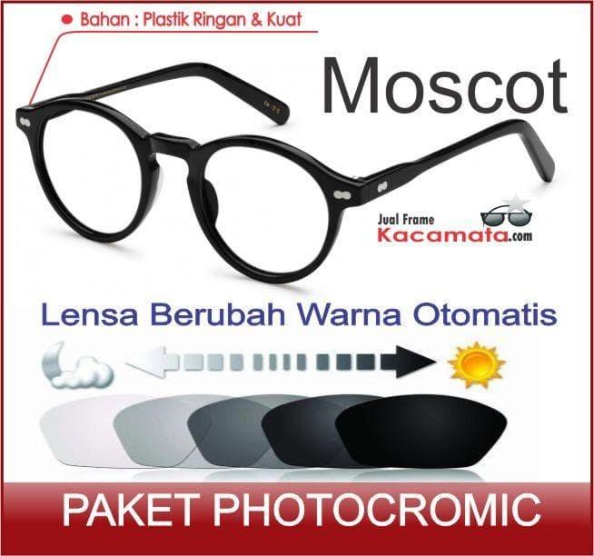 Jual Kacamata Moscot + Lensa Photocromic Minus Baca Frame Pria Cewek ... 2d45d0c9a2