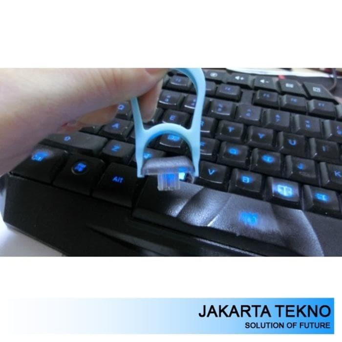 Promo Keycaps Puller for PC Cherry MX Mechanical Keyboard - Blue Murah