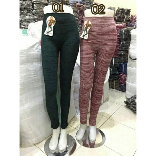 Jual Legging Motif Rajut Salur Legging Wanita Jakarta Barat Celana Murah Tokopedia