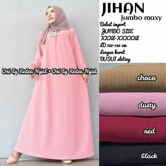 Jual Baju Wanita Gamis Jihan Jumbo Muslim Unik Cantik Vamaya Shop