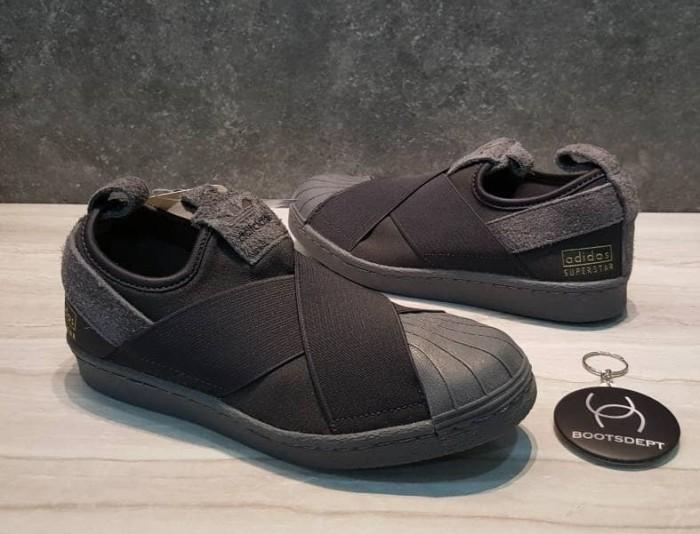 free shipping 9b23c 9fa40 Jual Adidas Superstar Slip On Ortholite - Utility Black [RETAIL PRICE] -  Kab. Tangerang - Futsal Boots/Boots Dept | Tokopedia