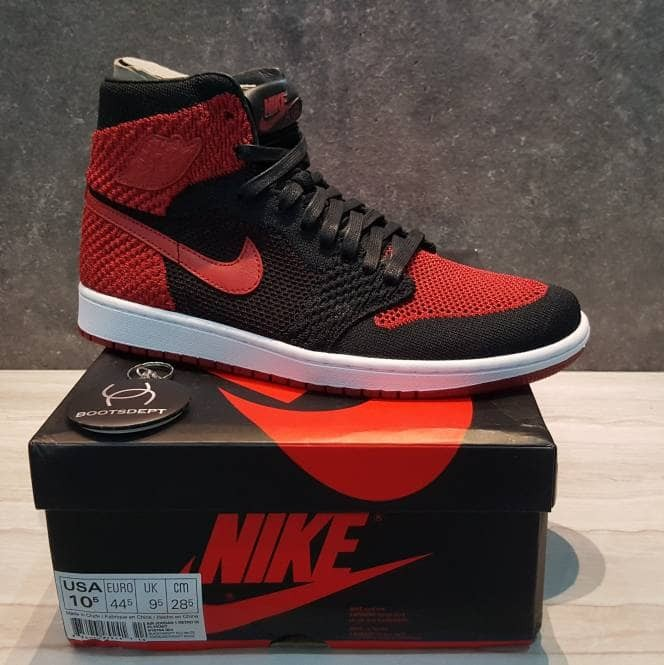 78e947290103 Jual Nike Air Jordan 1 Retro Hi Flyknit - Bred - Kab. Tangerang ...