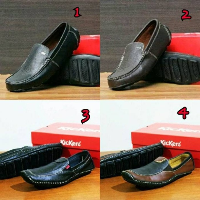 harga Sepatu slop casual kulit asli pria santai bally slip on keren bagus Tokopedia.com