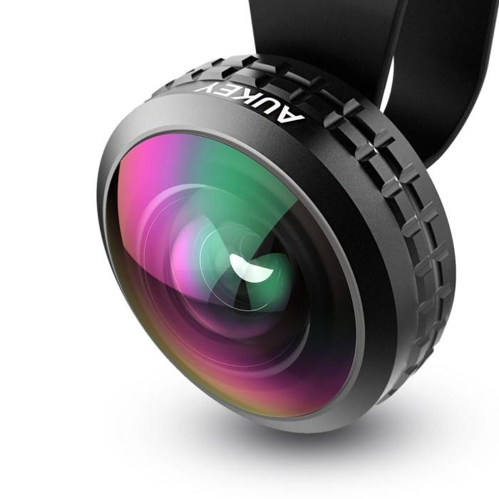 harga Aukey - pl-wd02 optic pro wide angle lens - black Tokopedia.com
