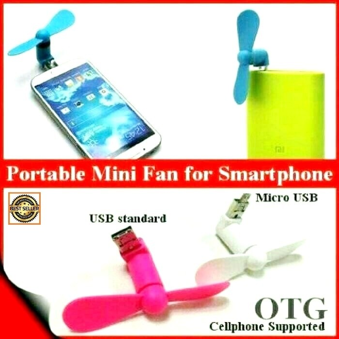 Foto Produk KIPAS ANGIN 2 IN 1 USB OTG android - phone mini micro fan dari AVO Grosir