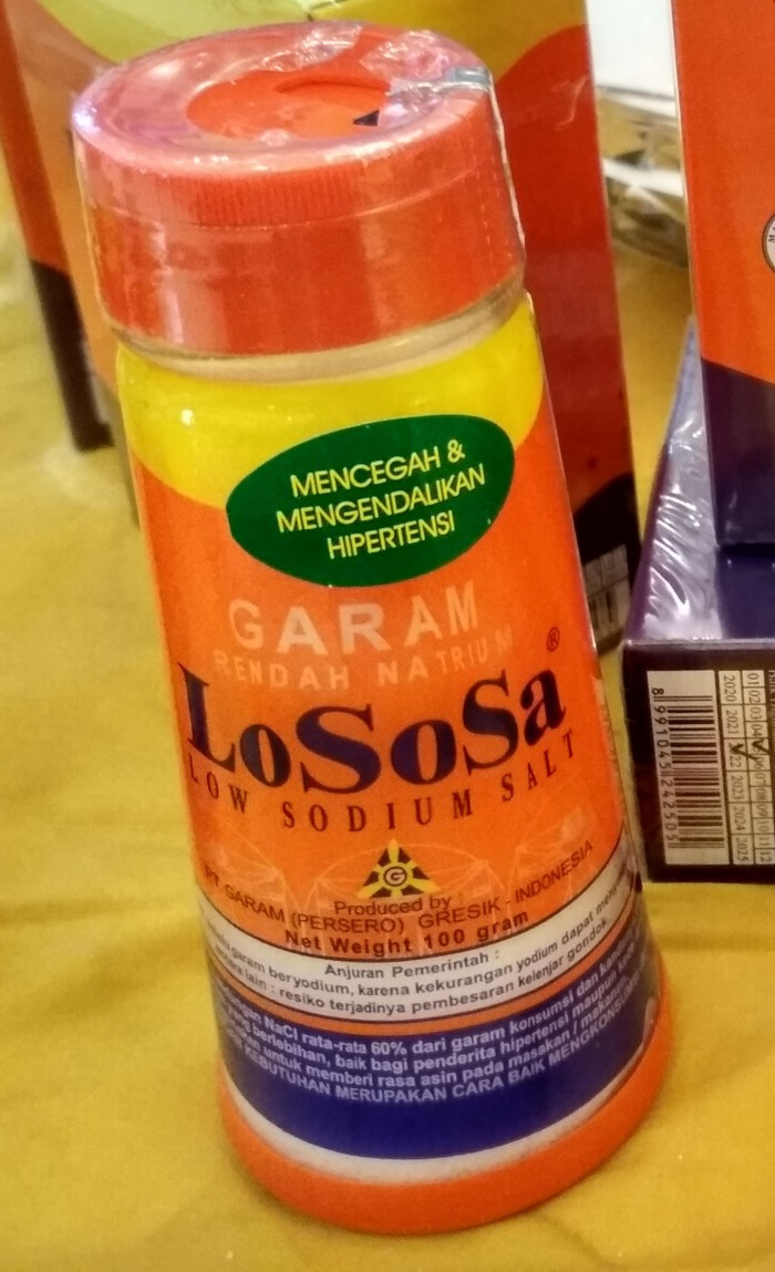 Garam Lososa Rendah Natrium 500 Gram Daftar Harga Terlengkap Indonesia 500gr Sodium Utk Hipertensi Darah Tinggi 100gr