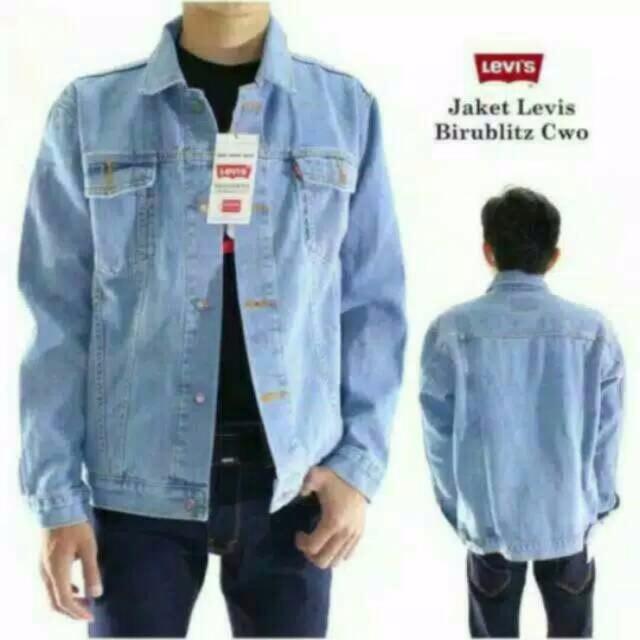 Jual Promo Jaket jeans biru pudar jaket jeans jaket jeans bp keren ... dd03caf4a0
