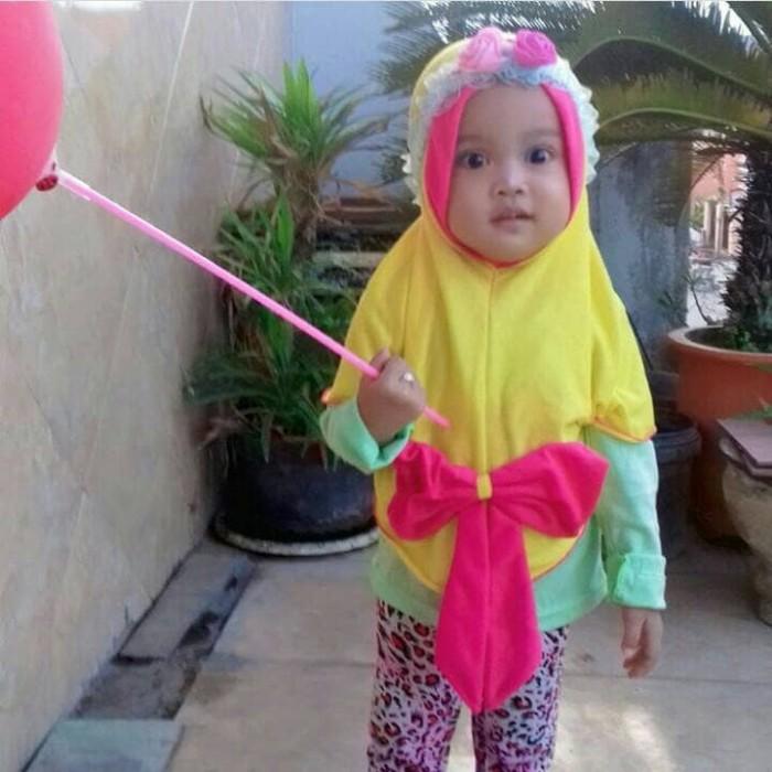 Jilbab bayi dan anak murah pita besar