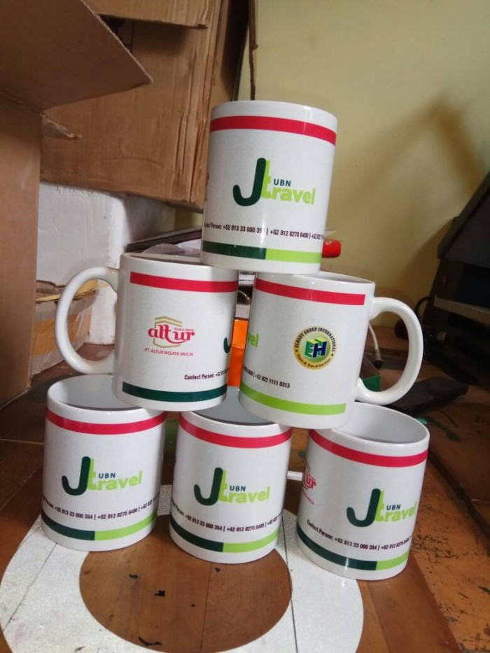 sablon press mug SATUAN - Putih