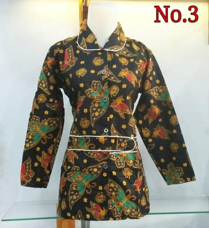 harga Batik wanita terbaru   kemeja kerja batik   atasan blouse batik wanita  Tokopedia.com 0293f7704e