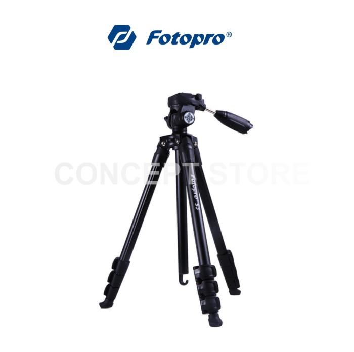 harga Fotopro s3 black aluminium tripod . s 3 black Tokopedia.com