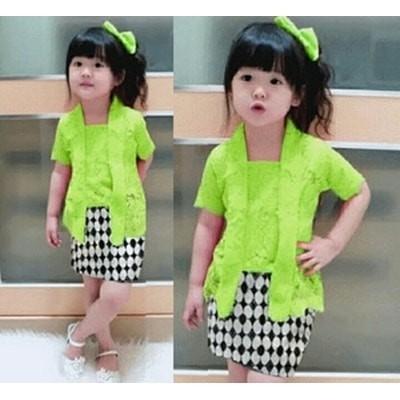 Baju Setelan Kebaya Anak Perempuan/Cewek - Setelan KB Kids Green