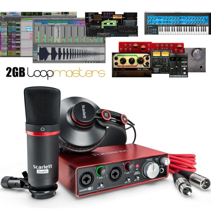 harga Focusrite scarlett 2i2 studio 2nd generation Tokopedia.com