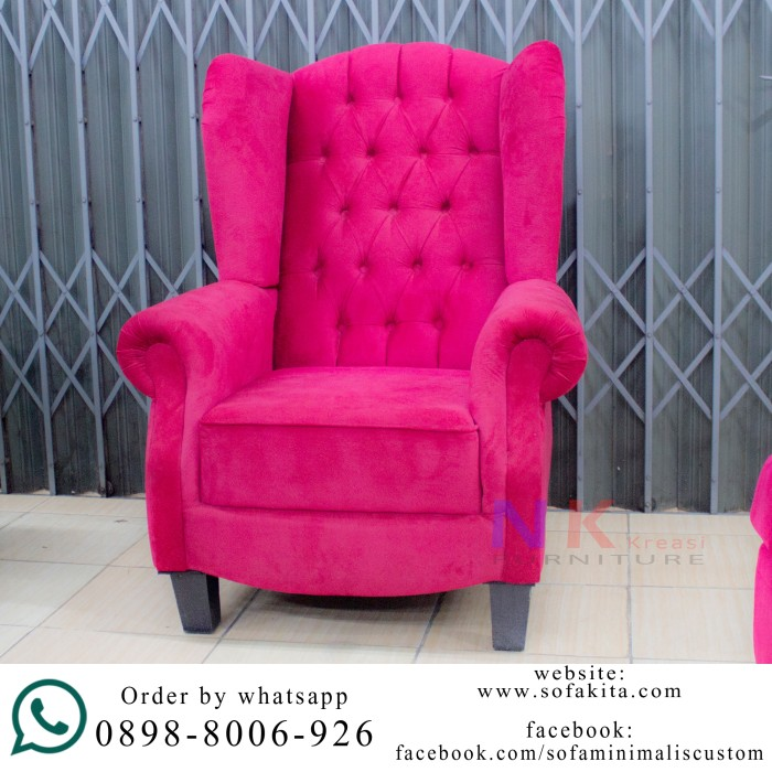 harga Sofa wing chair kursi wingchair single seater (37) klasik Tokopedia.com