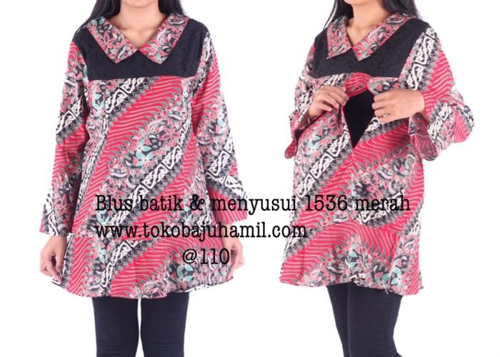 harga Blus hamil batik menyusui 1536 merah Tokopedia.com