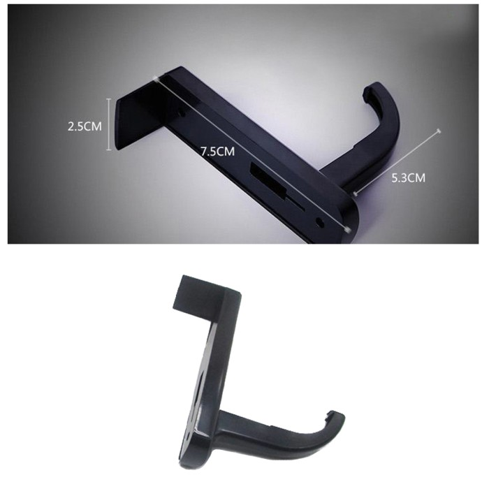 harga Hitam - handphone stand untuk monitor tempat headset holder Tokopedia.com