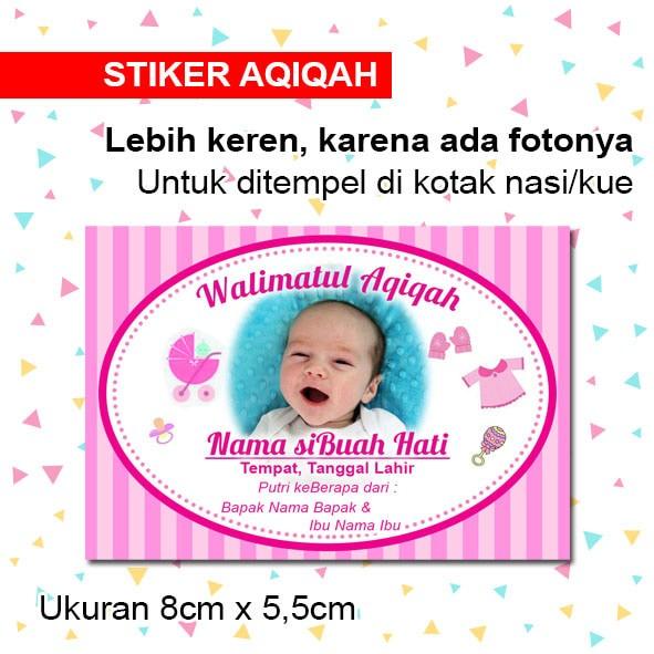 Jual Stiker Aqiqah Anak Label Nasi Kotak Aqiqahan Anak