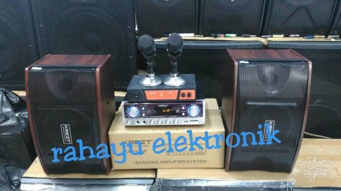 harga Amplifier speaker system krezt 155sp+mic wireles maxxis(paket karaoke) Tokopedia.com