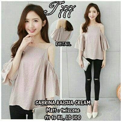 L . sabrina raisha cream fit XL . GD
