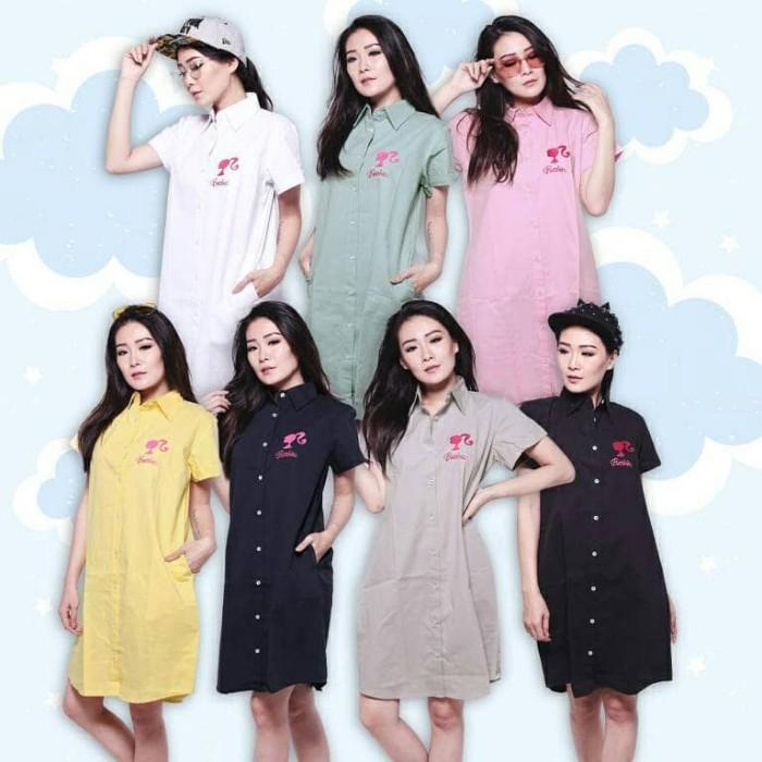 harga Barbie shirt dress fashion baju outfit pakaian atasan kemeja panjang Tokopedia.com