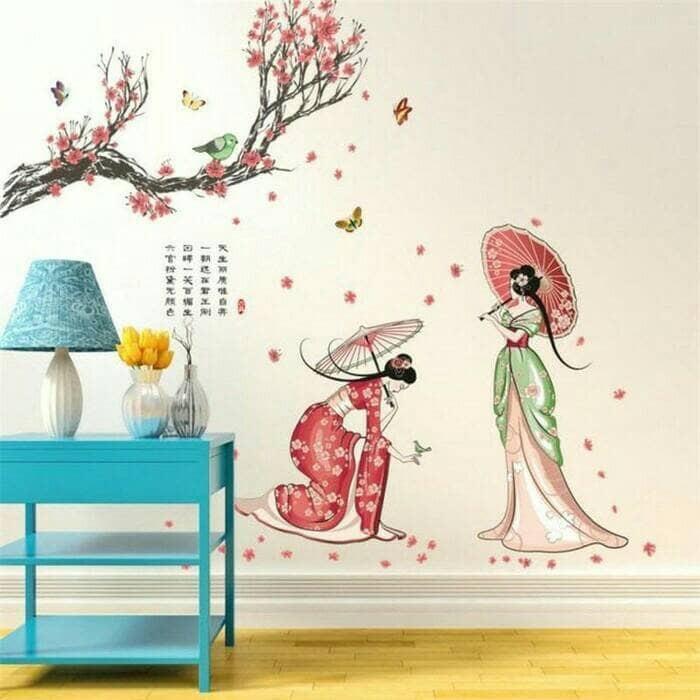 jual wall sticker stiker dinding 60x90 japanese girl jm7331 - dki