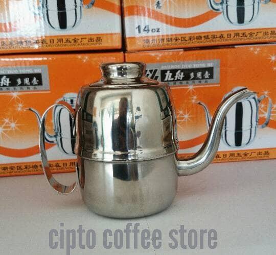 harga Teko leher angsa l pour over water gooseneck kettle 14 oz 414 ml Tokopedia.com