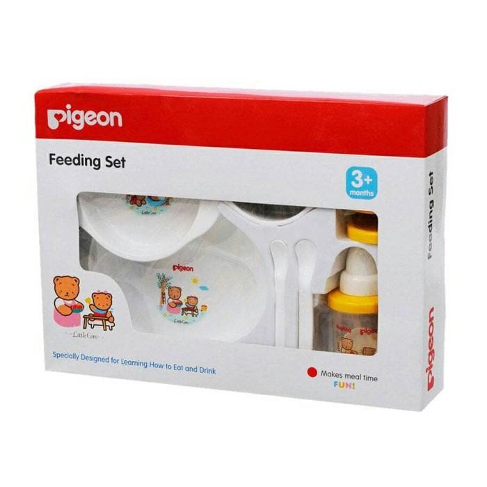 pigeon feeding set large / training cup / peralatan makan bayi