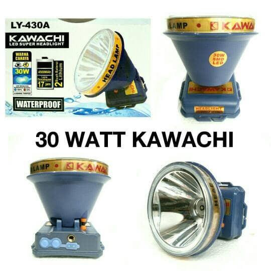 harga Senter kepala 30 watt kawachi ly-430a putih & kuning senter penerangan Tokopedia.com