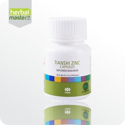Obat Penggemuk Badan herbal Tiens Zinc Capsules Isi 60 Kapsul 100% Ori