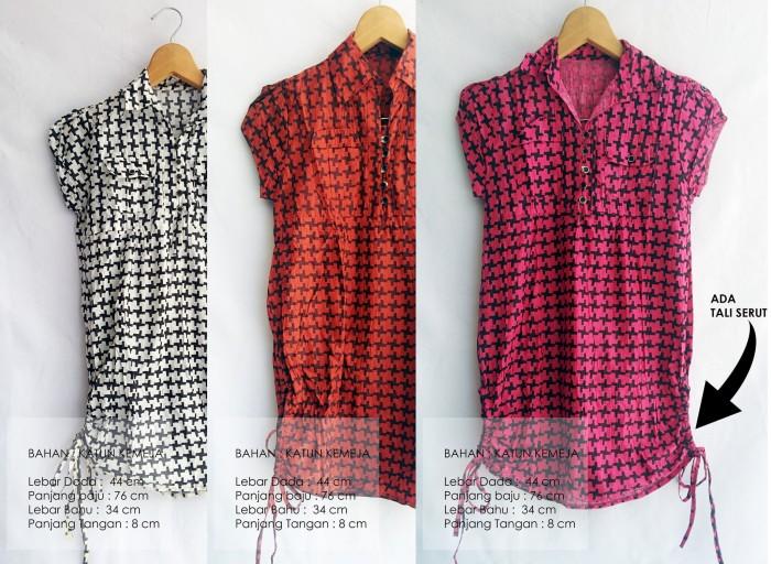 Foto Produk SALE KEMEJA WANITA PANJANG - PINK PUTIH ORANGE - BISA UNTUK IBU HAMIL dari KPStore Fashion Online