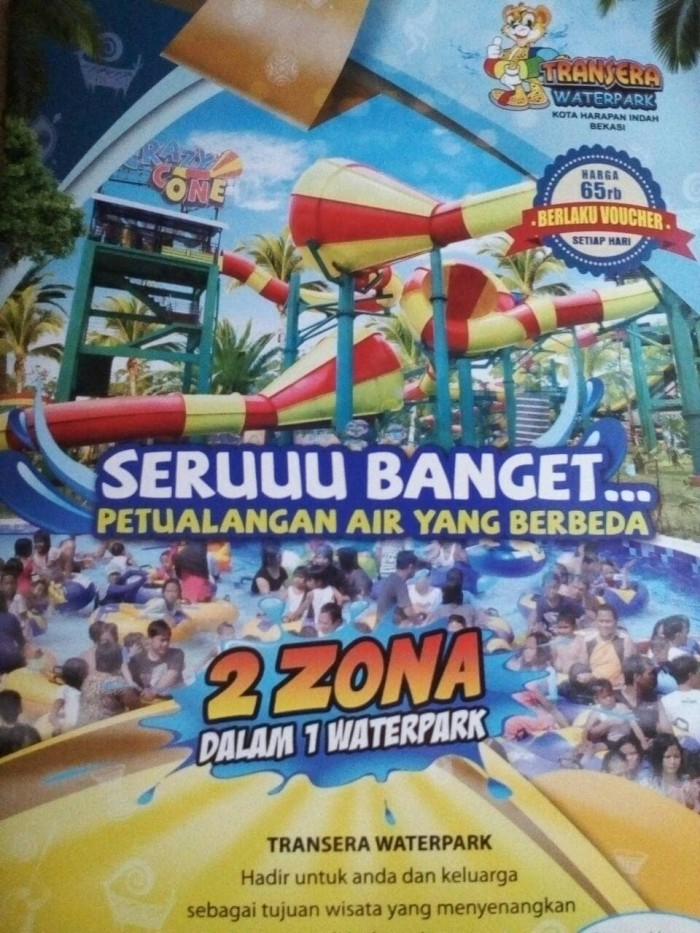 harga Promo waterpark transera harapan indah Tokopedia.com