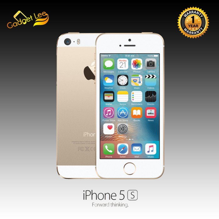 IPHONE 5S 64GB GOLD - GARANSI 1 TAHUN DISTRIBUTOR