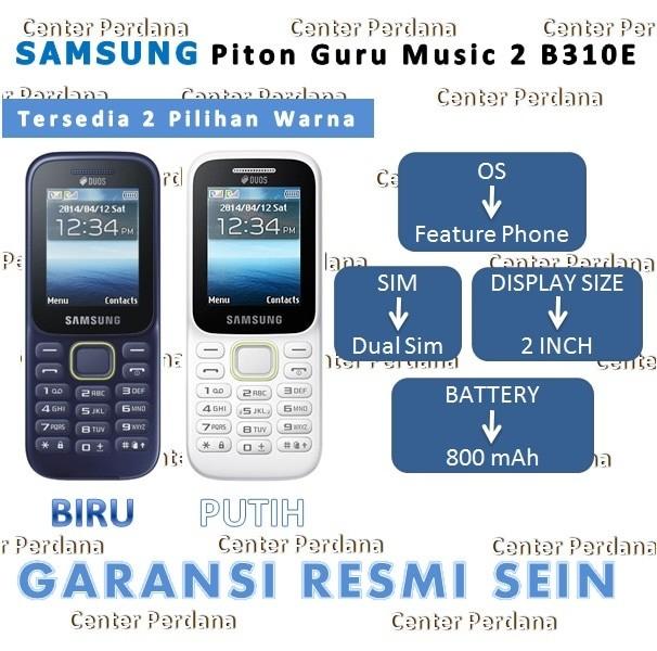 Samsung Piton Guru Music 2 DUOS SM - B310E ( SM-B310E ) - Biru