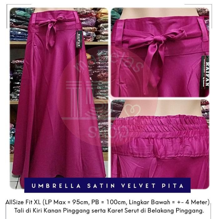 harga Rok payung satin velvet pita lebar polos panjang maxi skirt pink tua Tokopedia.com